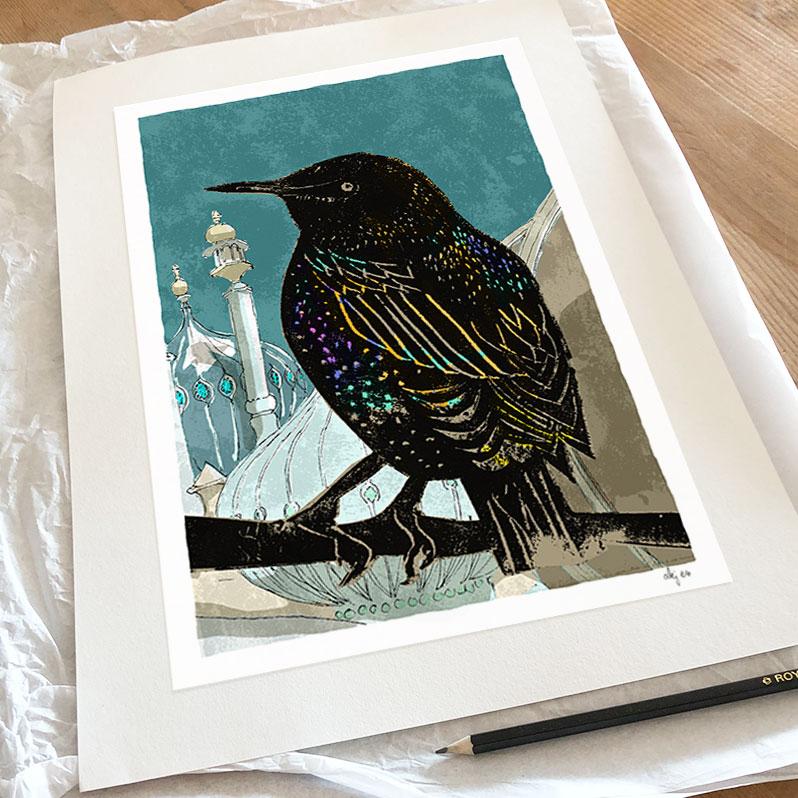 The Starling at Pavilion Gardens art print