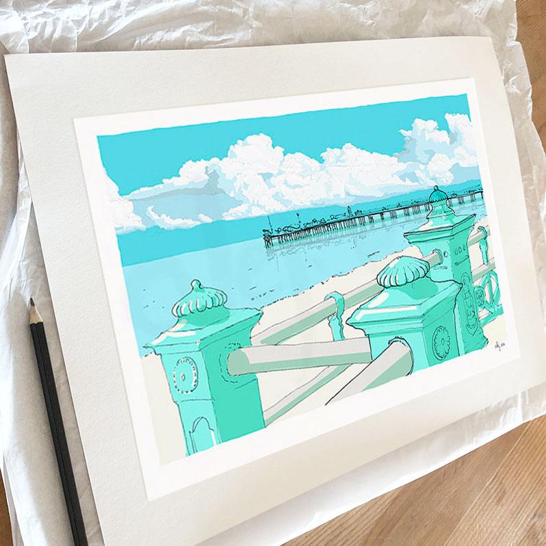 Fine art print by artist alej ez titled Marine Parade Brighton Pier
