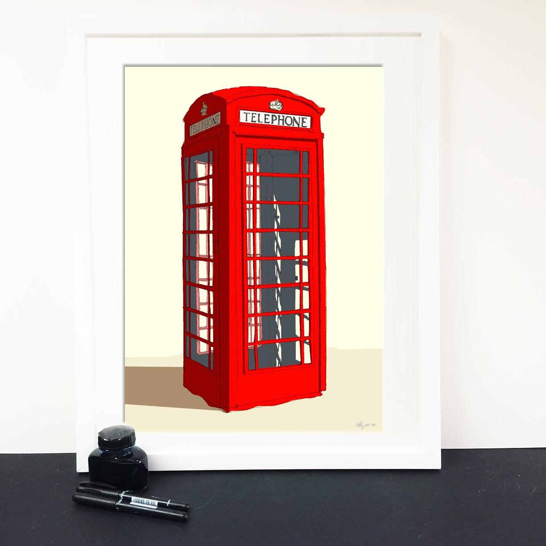 alejez Telephone box K6 27.9x42 illustration