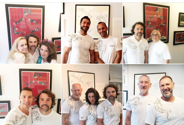 T-shirts with my designs and a few friends. Open house festival 2017 Brighton AOH