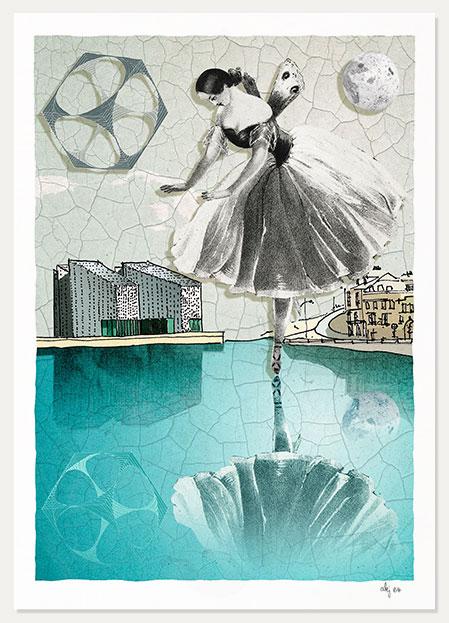 art print titled Turner Contemporary Margate Fanny Elssler by artist alej ez