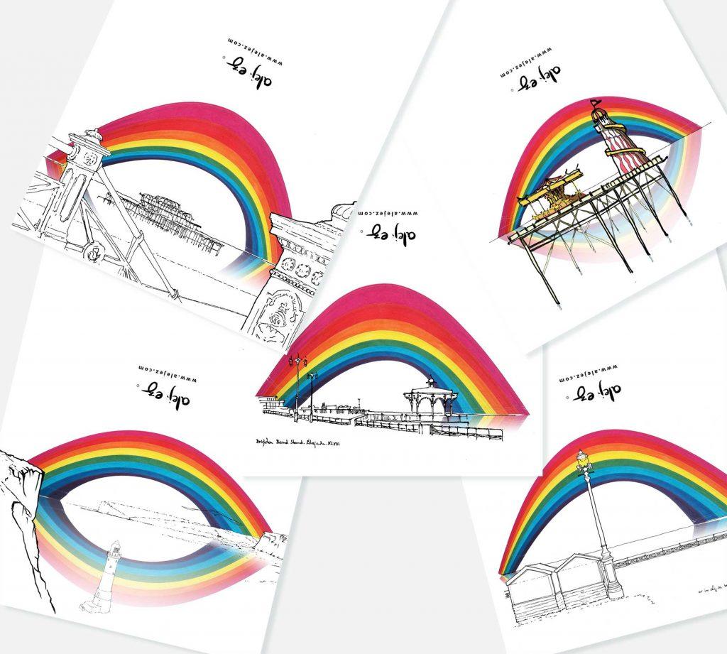 set of greeting cards named Pride Inside Notecards Set by artist alej ez