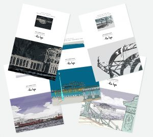 West Pier 5 Notecards Set by artist alej ez