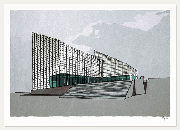 art print named The Turner Contemporary at Margate by artist alej ez
