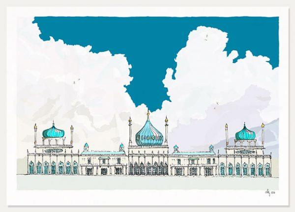 art print titled Brighton Pavilion Magic Lantern Slide by artist alej ez