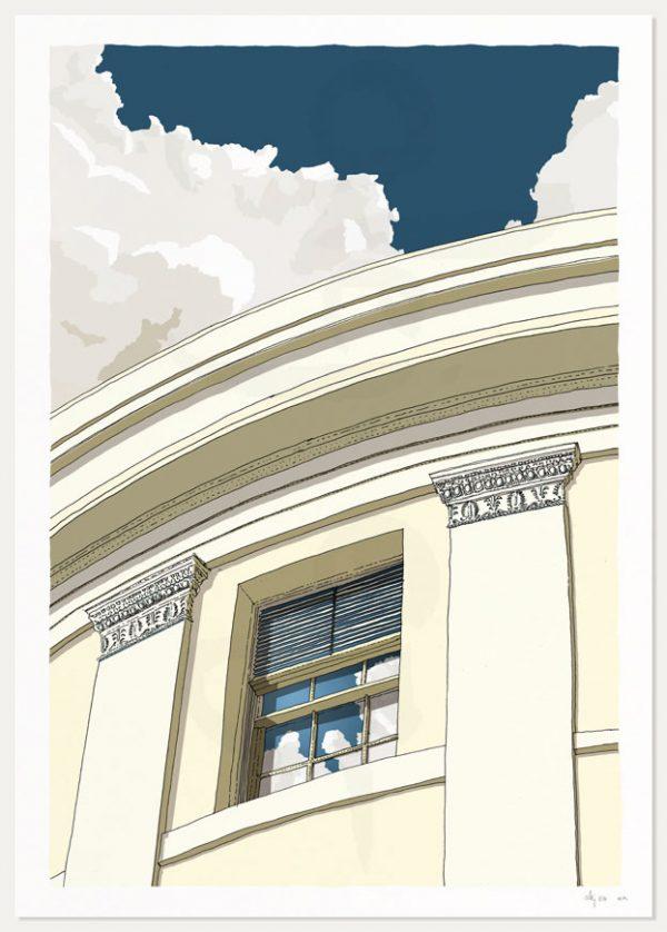 print named Brunswick Square Window Regency Town House by artist alej ez