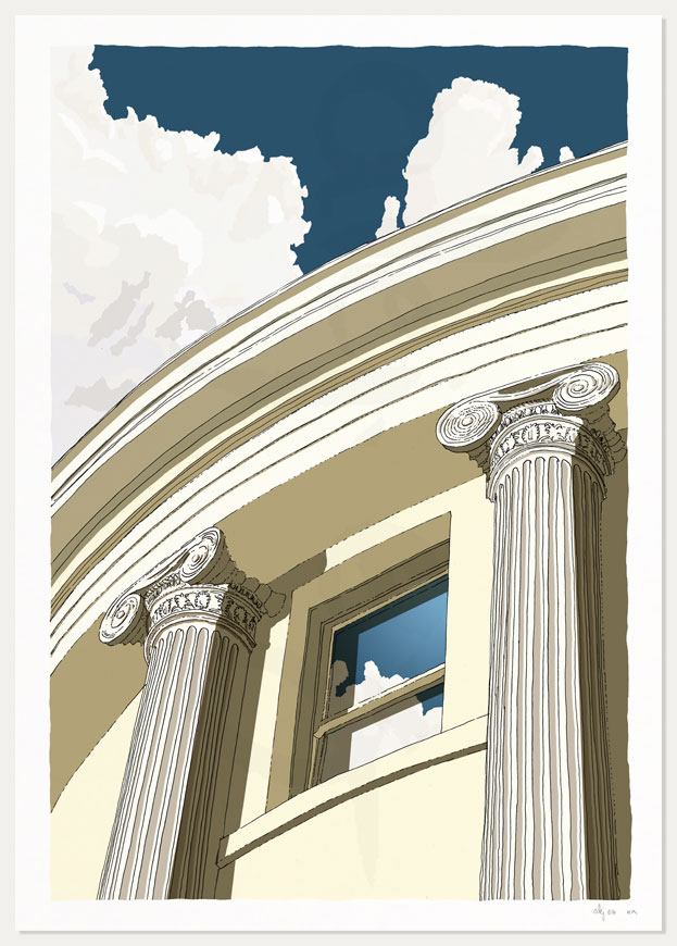 print named Brunswick Square Window Ionic columns by artist alej ez