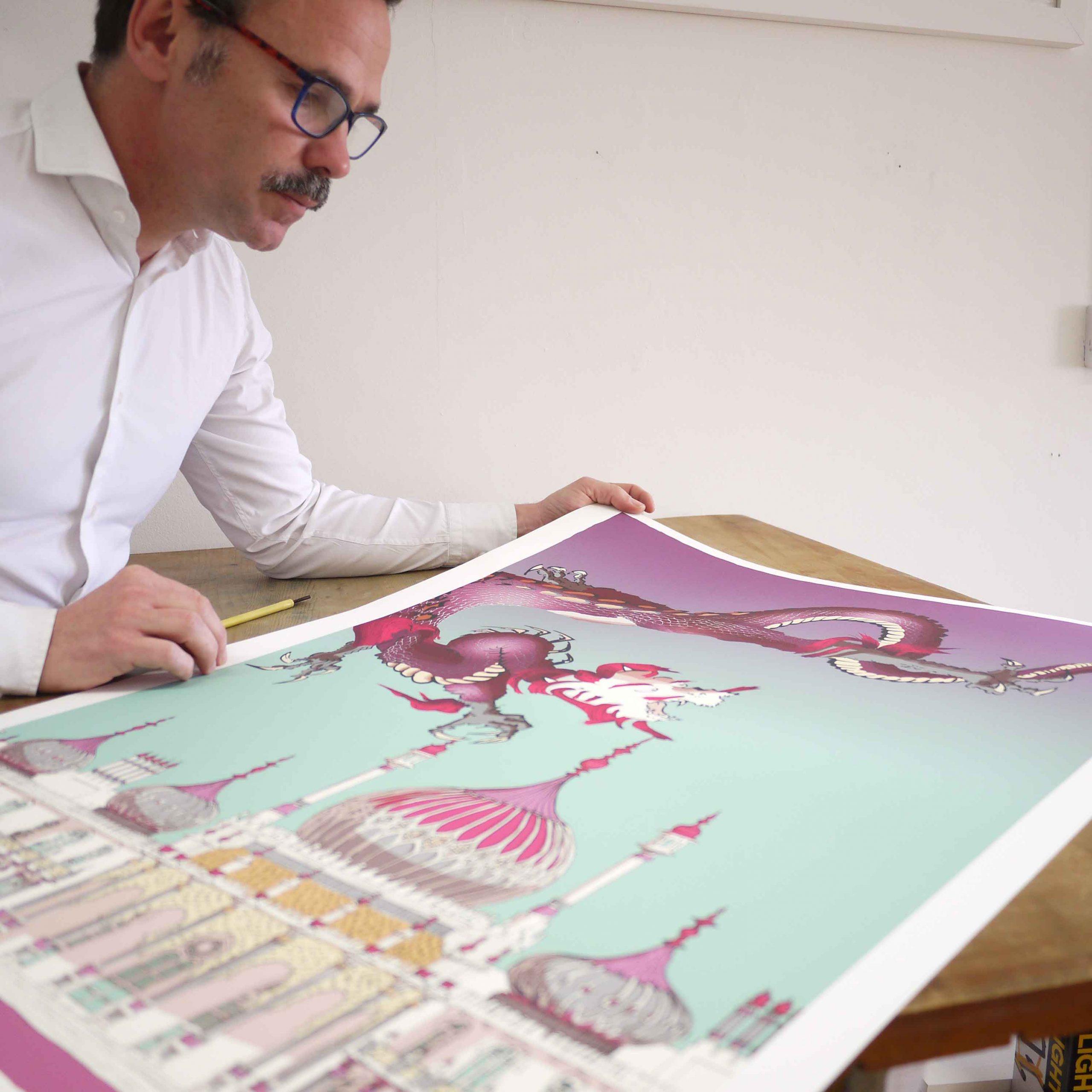 inspection of print named Chinoiseriez Life Joy by artist alej ez