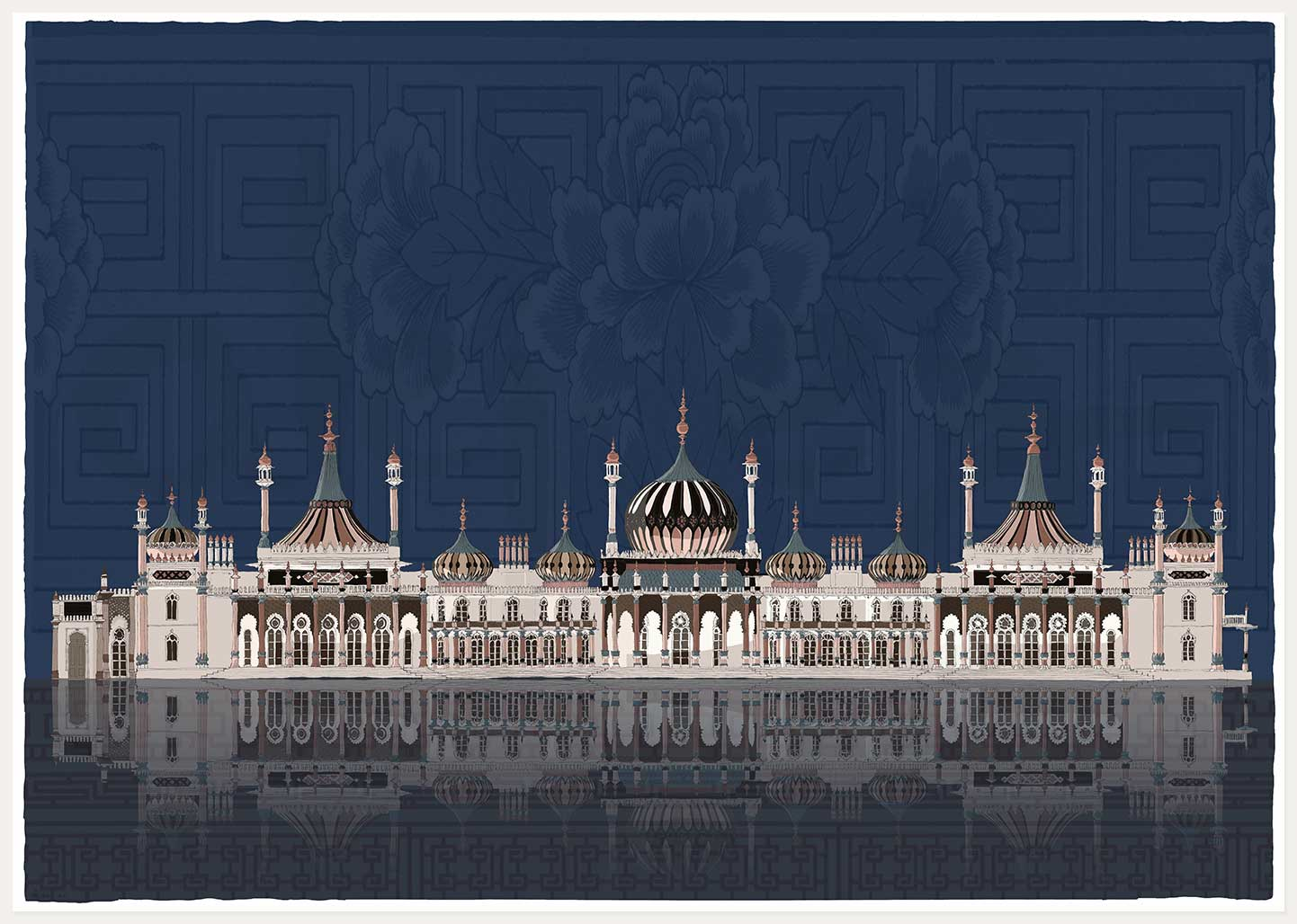 print named Pavilion Nights by artist alej ez