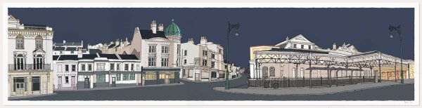 print named Railway Terminus Train Station Brighton by artist alej ez