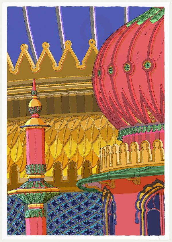 print named Regency Brighton Pavilion Finial and Domes by artist alej ez
