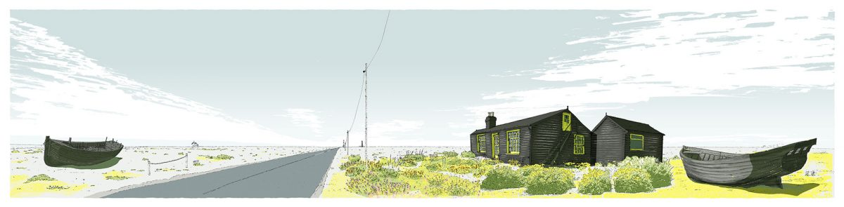print named Dungeness Derek Jarman Prospect Cottage by artist alej ez