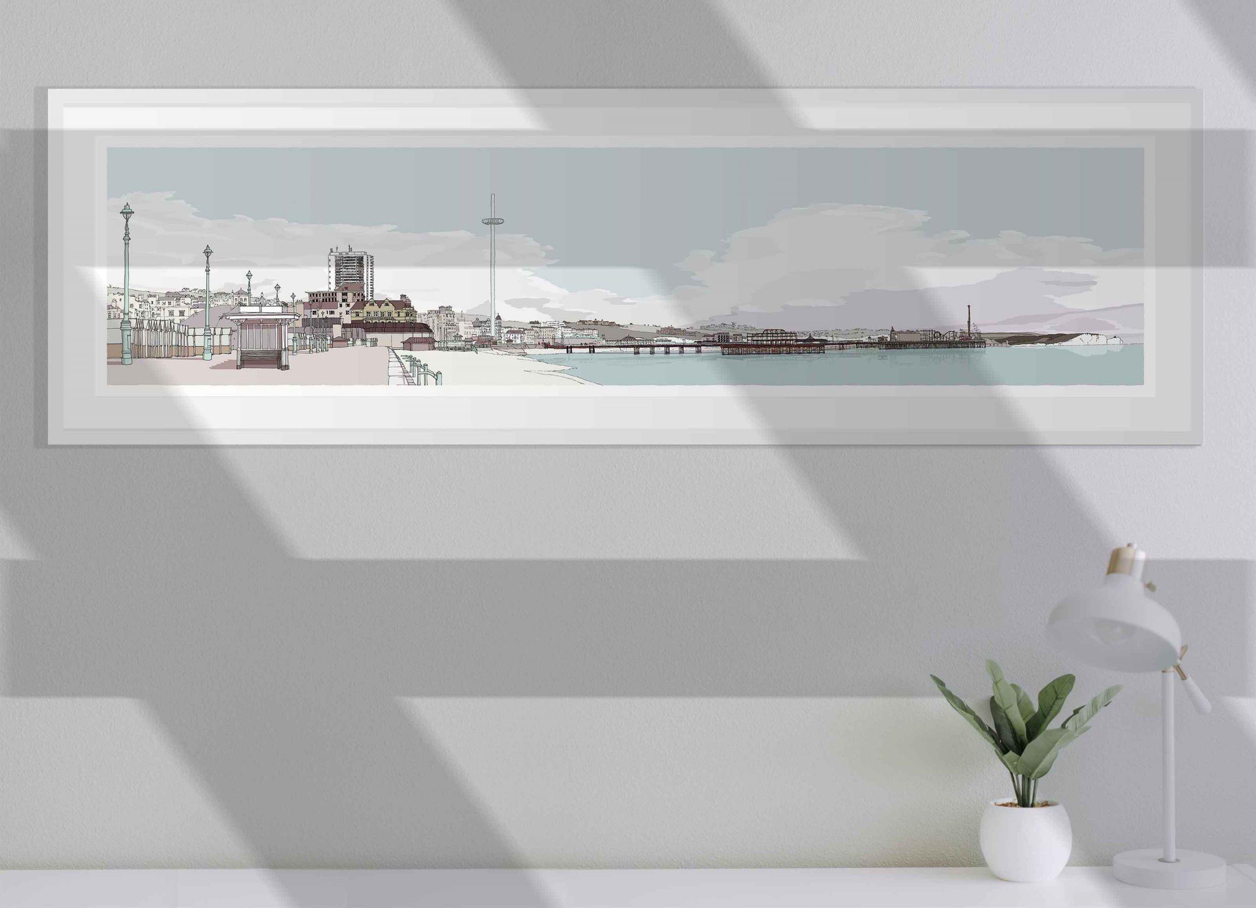 room with Hove Brighton Promenade Pebble Beach
