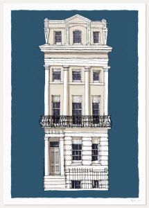 print named The Regency Town House Brunswick Square by artist alej ez