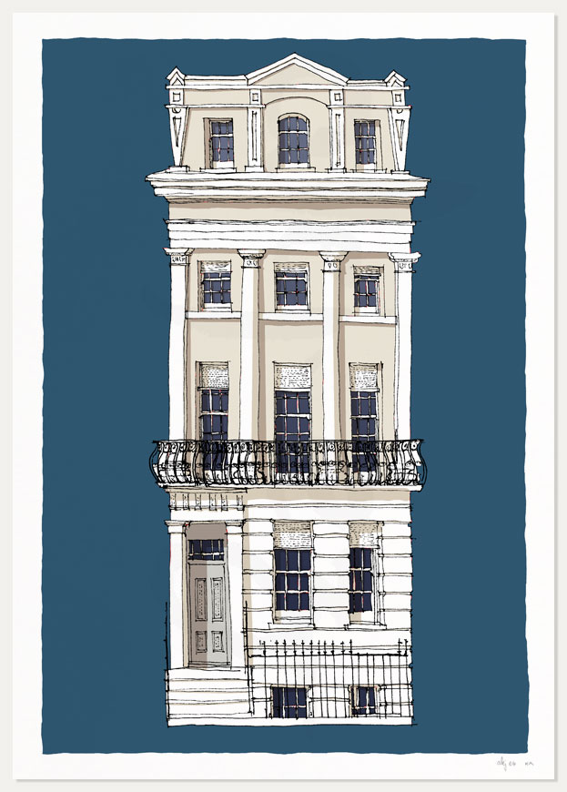 print named The Regency Town House Brunswick Square by artist alej ez