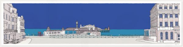 Fine art print by artist alej ez titled Brighton City Pier Blue K