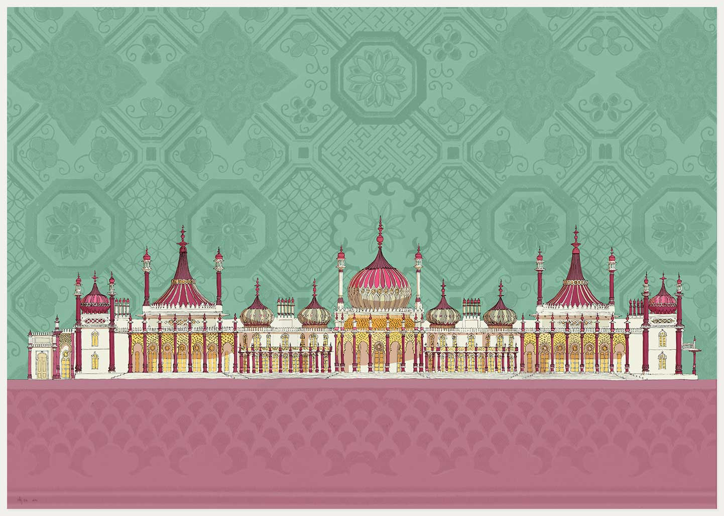 print named Brighton Royal Pavilion Life by artist alej ez