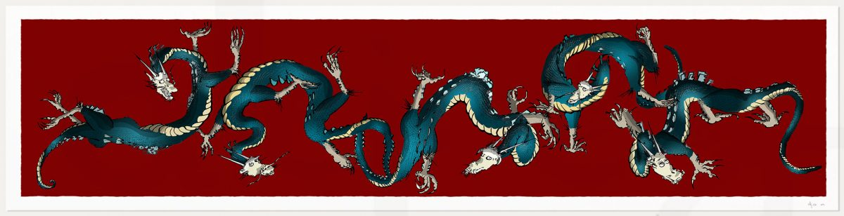 print named Dragons Roll Alej Ro by artist alej ez