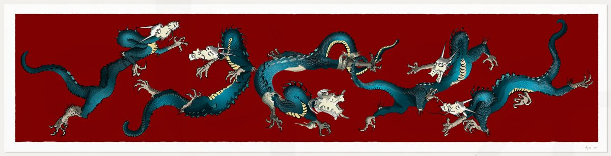 print named Dragons Roll Chen Rong by artist alej ez