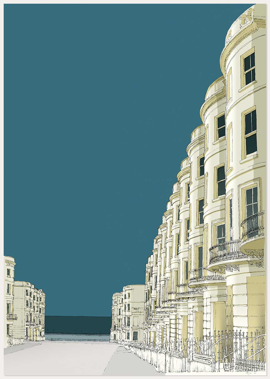 print named Brunswick Place and the Sea by artist alej ez