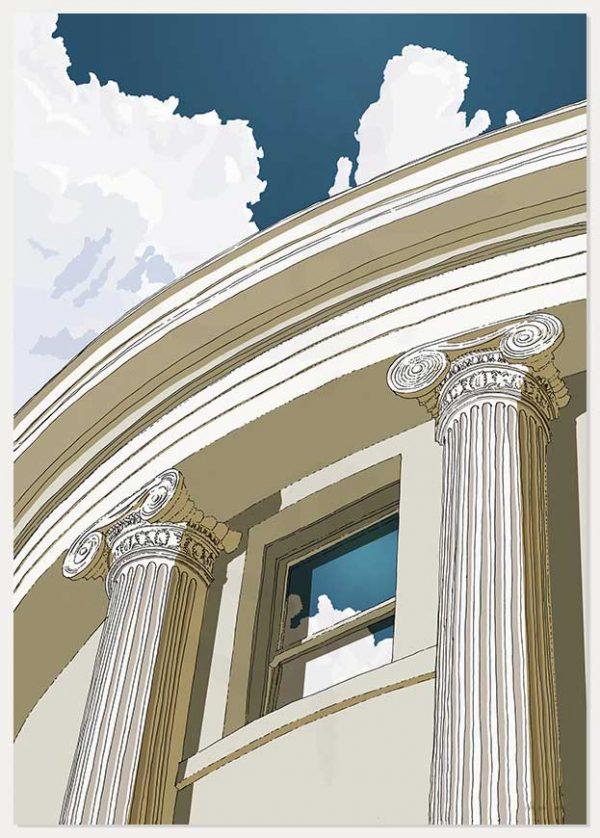print named Brunswick Square Window Ionic columns by artist alej ez