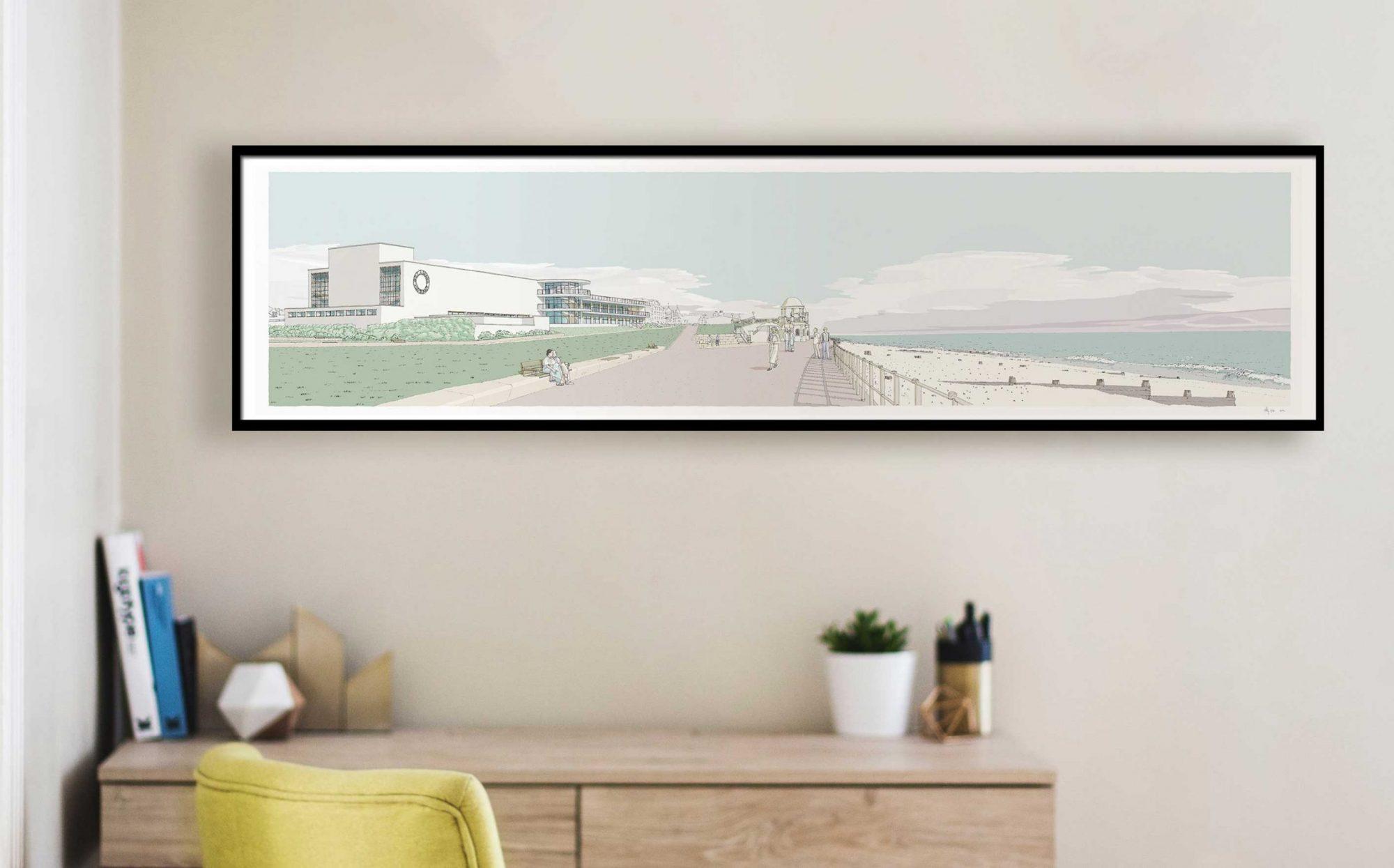 De La Warr Pavilion Bexhill on Sea framed fine art print