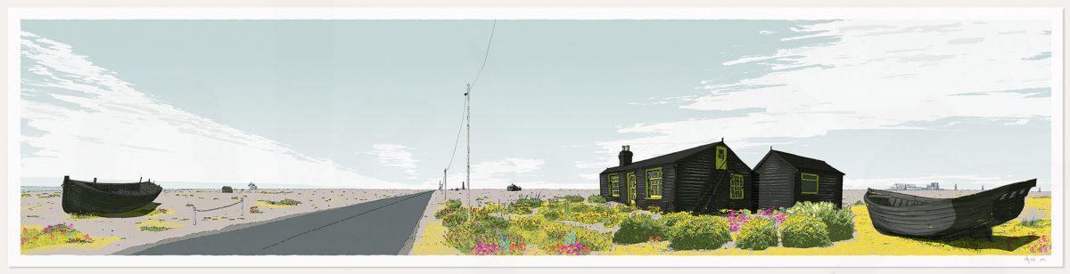 print named Dungeness Derek Jarman's Prospect Cottage by artist alej ez