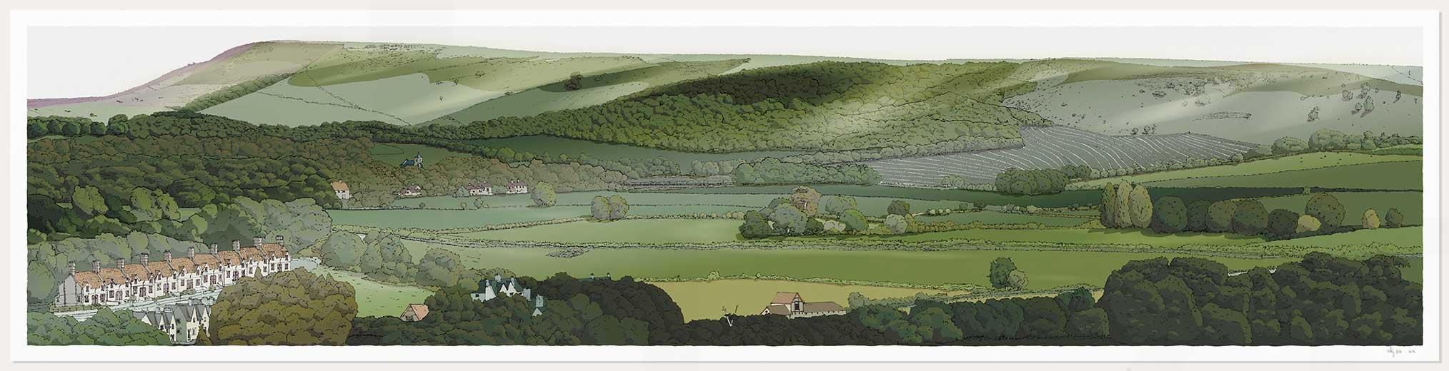 print named Firle from Glynde by artist alej ez