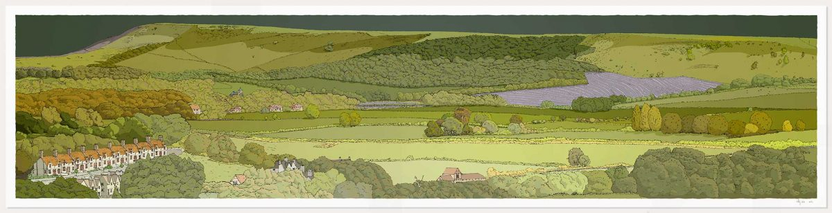 print named Firle from Glynde Green Sky by artist alej ez
