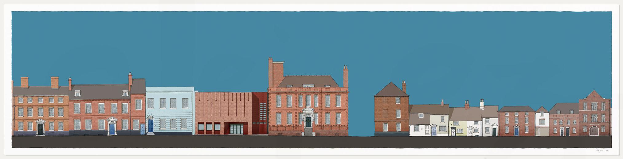 print named Pallant House Gallery Cerulean Blue by artist alej ez