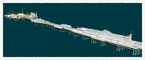 Print named Brighton Pier Days Out by artist alej ez