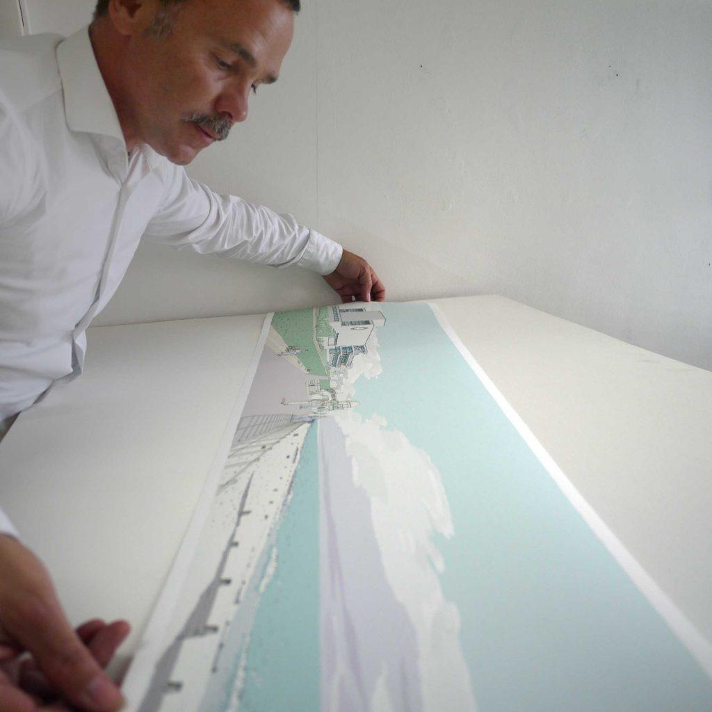 De La Warr Pavilion Bexhill on Sea fine art print inspection