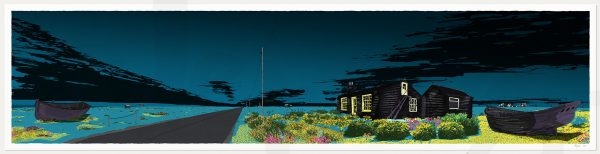 print named Blue Dungeness Derek Jarman Prospect Cottage by artist alej ez