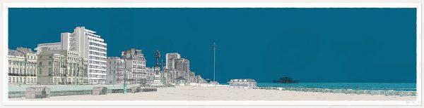 print named Sea Promenade Brighton and Hove Ocean Blue by artist alej ez
