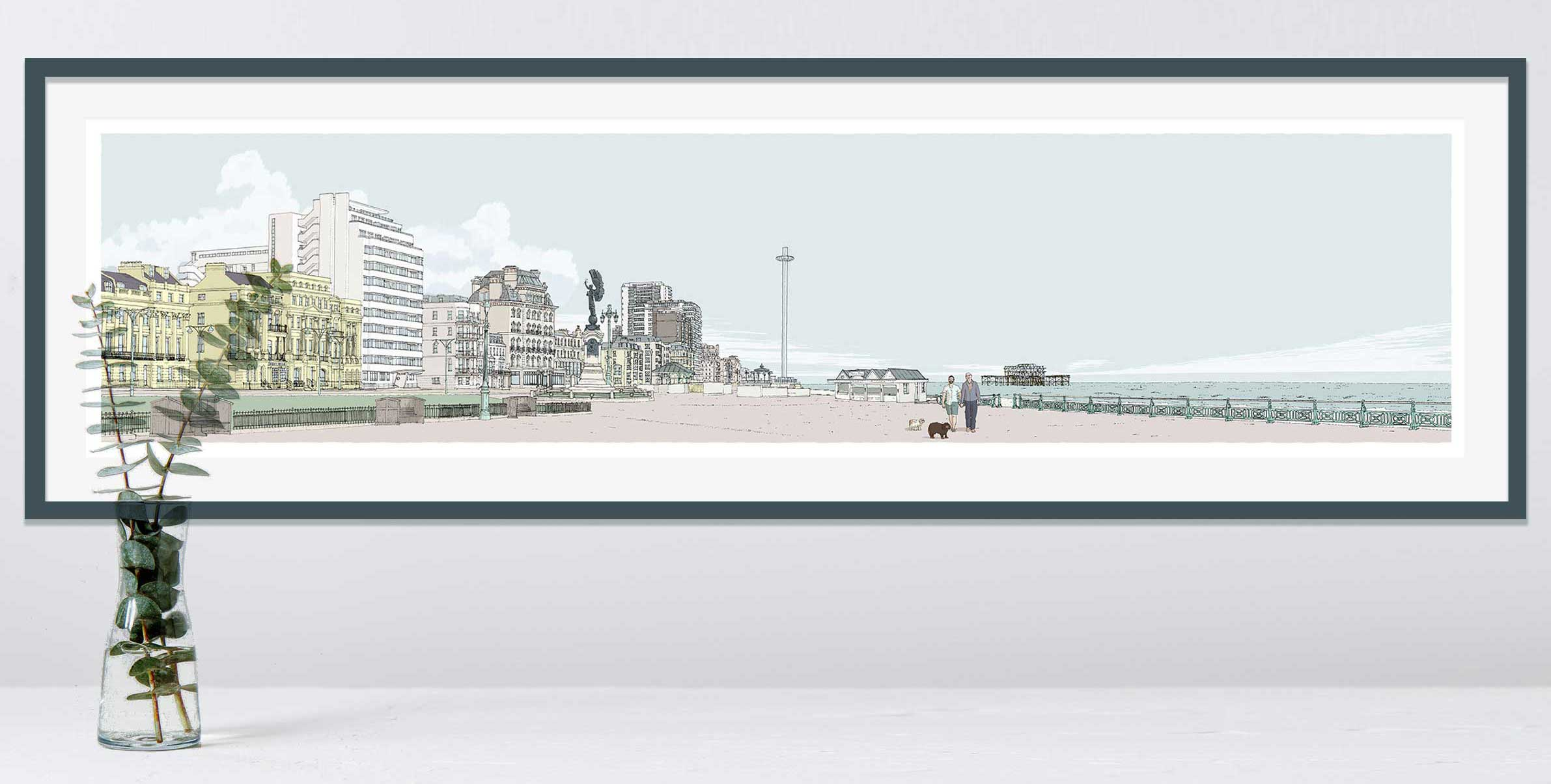 Portrait commission panorama in Hove Lawns