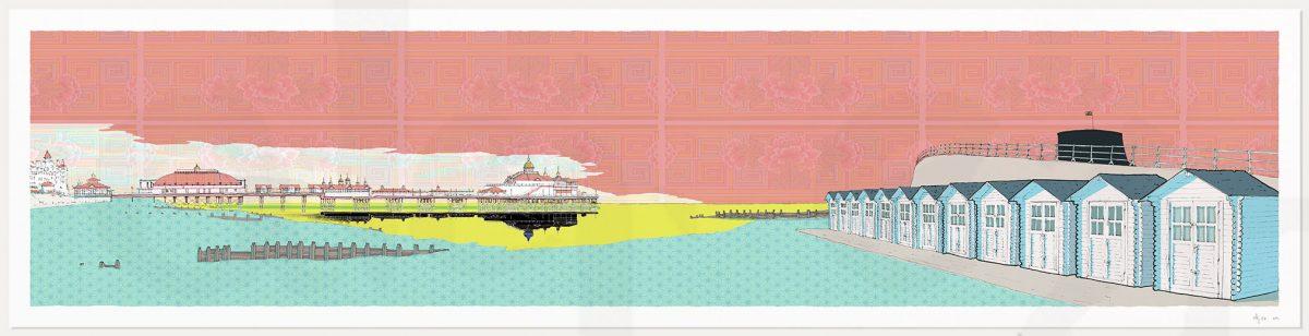 Print named Eastbourne Pier and Huts Esterne by artist alej ez