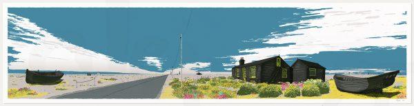 Print named Ce Bleu Dungeness Derek Jarman Prospect Cottage by artist alej ez