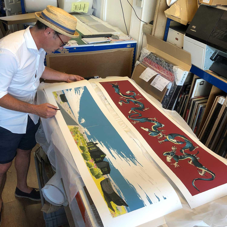 Fine art print inspected by artist alej ez Ce Bleu Dungeness Derek Jarman Prospect Cottage