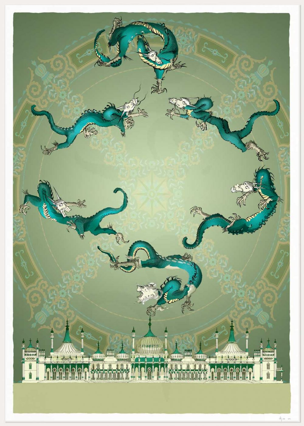print named Brighton Royal Pavilion Chinoiseriez Arco by artist alej ez