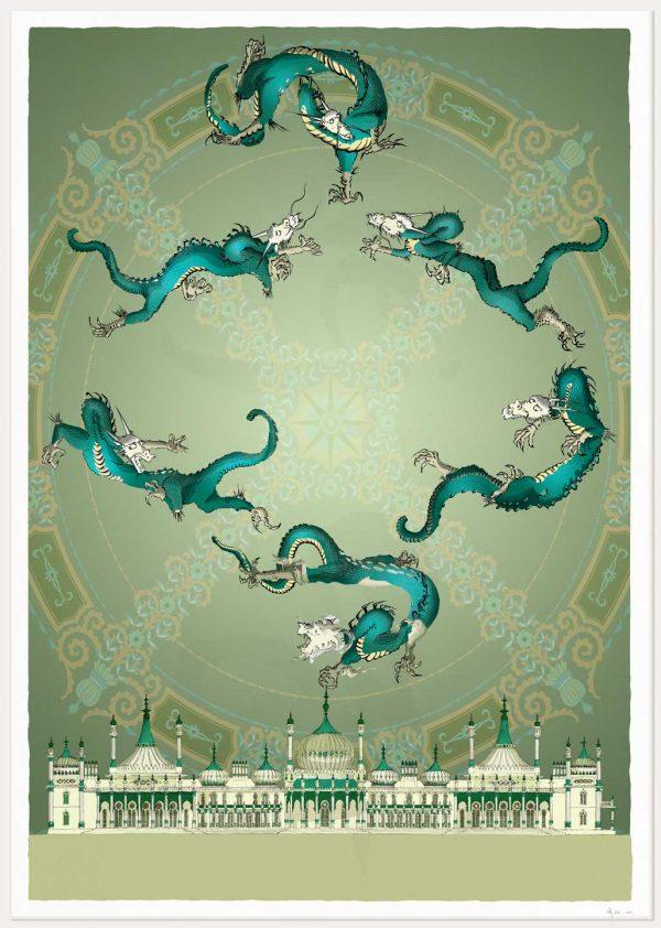print named Brighton Royal Pavilion Chinoiseriez Arco by artist alej ez