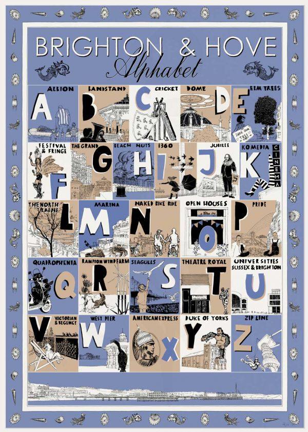 print named Brighton and Hove Alphabet by artist alej ez