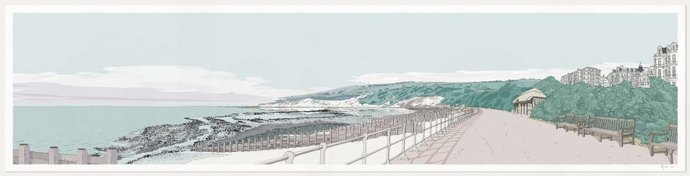 Print named Eastbourne West Promenade Pebble Beach by artist alej ez