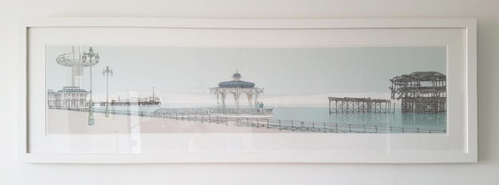 Portrait commission panorama in the Brighton Bandstand