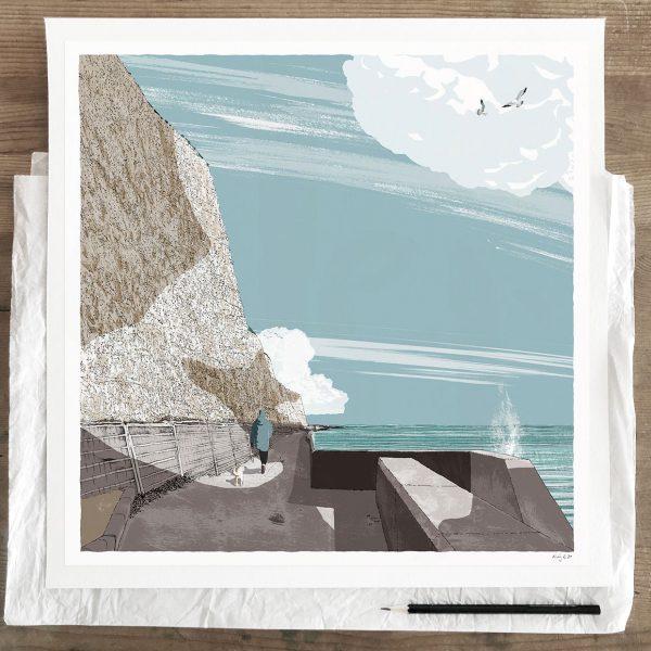 Fine art print by artist alej ez titled Brighton Undercliff Walk