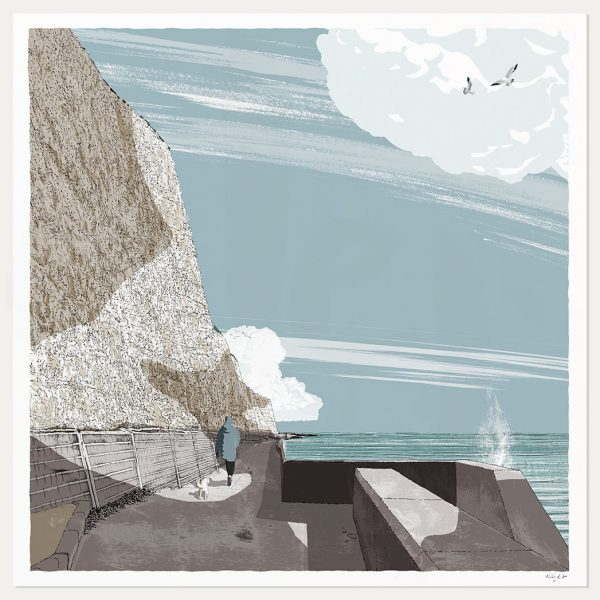 art print titled Brighton Undercliff Walk by artist alej ez