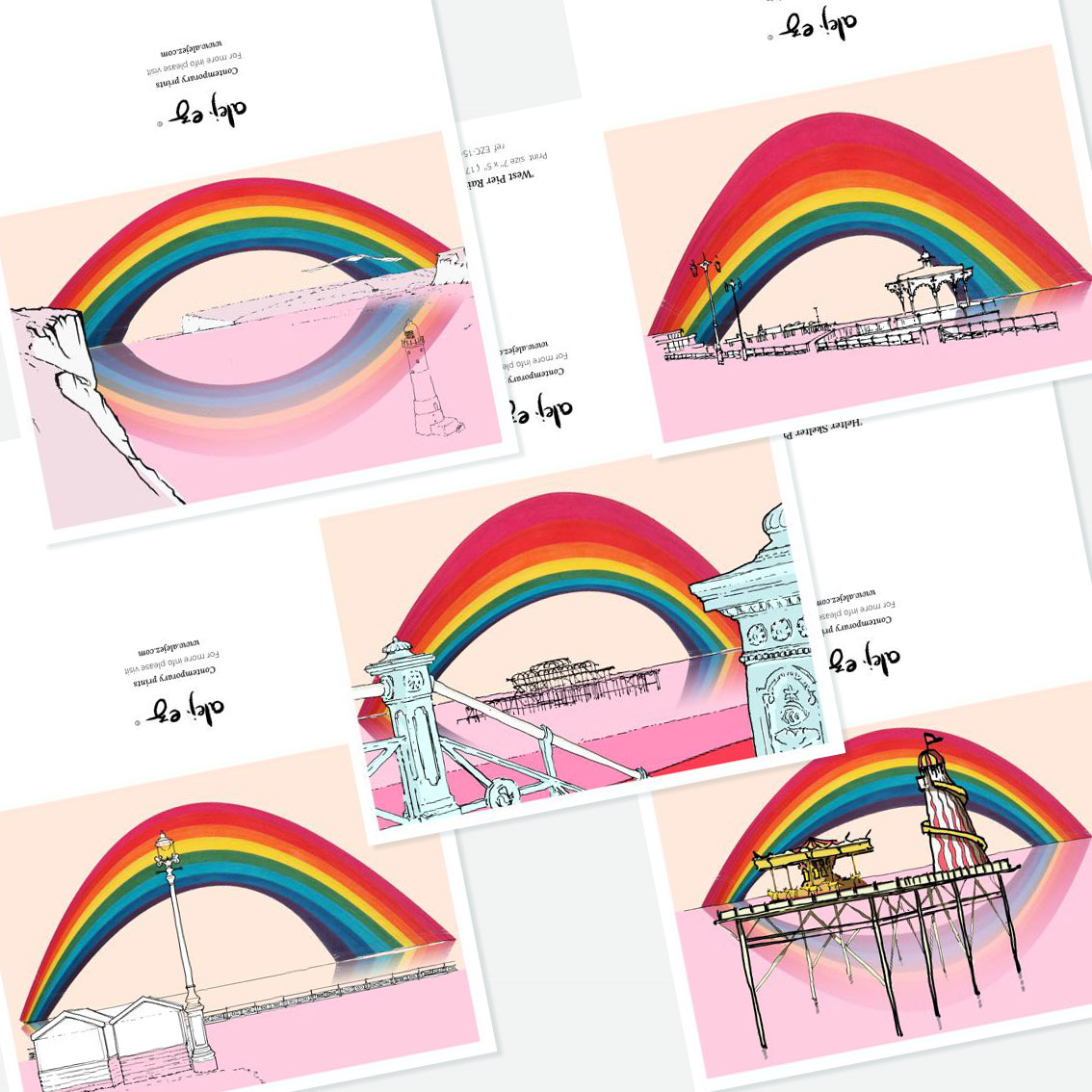 Pride Inside. 5 greeting cards set.