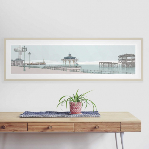 Portrait in the Landscape Commission. Ii360 Palace Pier Bandstand and West Pier Pebble Beach.
