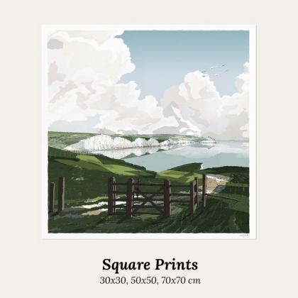 Square print. Standard art formats 30x30, 50x50, 70x70 by artist alej ez