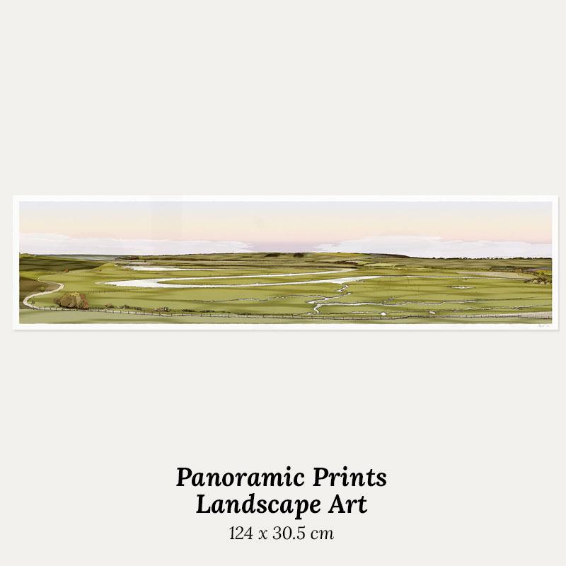 Landscape art panoramic prints by artist alej ez