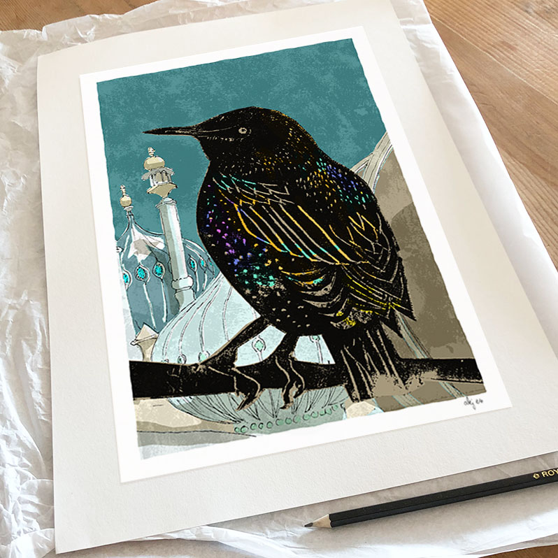 The Starling at Pavilion Gardens art print